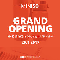 Khai trương MINISO Linh Đàm - Tặng voucher 43K
