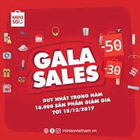 GALA SALES 50% - DUY NHẤT NĂM 2017 ÁP DỤNG CHO 1.500 MÃ SẢN PHẨM