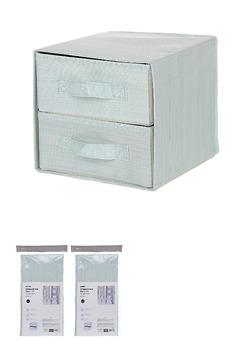 Hộp đựng đồ 2 ngăn ( xanh lá)