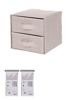 Hộp đựng đồ 2 ngăn ( hồng)