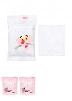 Bông tẩy trang du lịch pink panther 10pack*10 gói