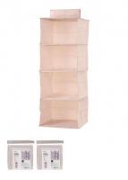 Giá đựng đồ treo tường 4 tầng (hồng )