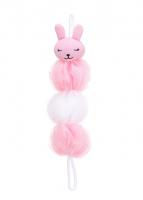 Bông tắm hình thỏ ( hồng)