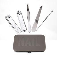 Dụng cụ cắt móng tay, 5chiếc/Bộ (Đen)  223021