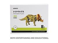 Mô hình lắp ráp 3D- khủng long Triceratops(xanh) 155615