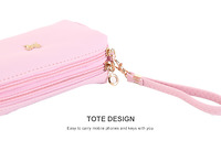Túi vải 2 lớp màu hồng 153718